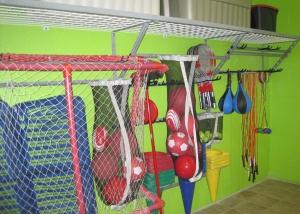système de rangement équipement de sport