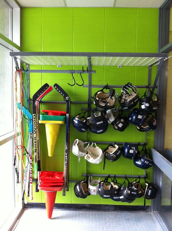système de rangement salle de sport
