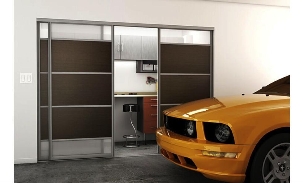portes coulissantes garage bois