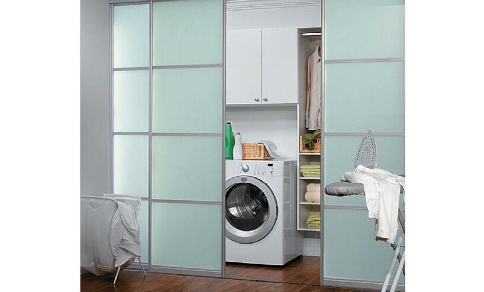 porte coulissante salle de lavage laundry